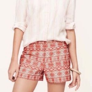 Loft Riviera Embroidered Shorts